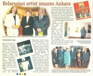 Belarusian artist amazes Ankara